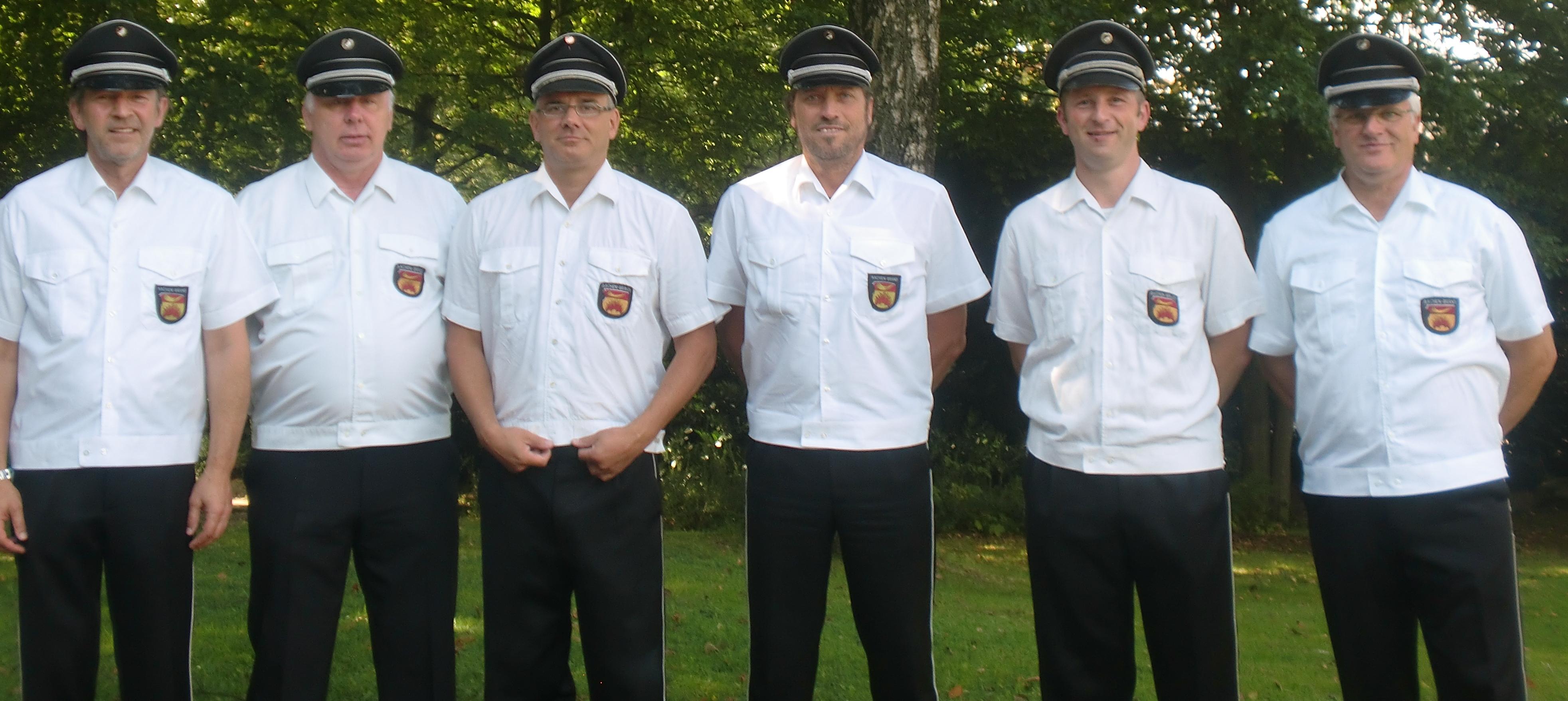 Der Vorstand des Trommler und Pfeiferkorps Aachen-Brand